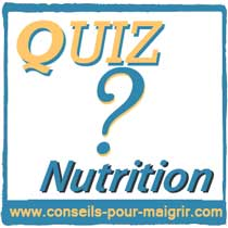 QUIZ NUTRITION GRAISSES
